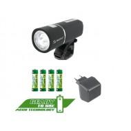 Zestaw Sigma Lightster + Cuberider II + ładowarka + akumulatory + baterie